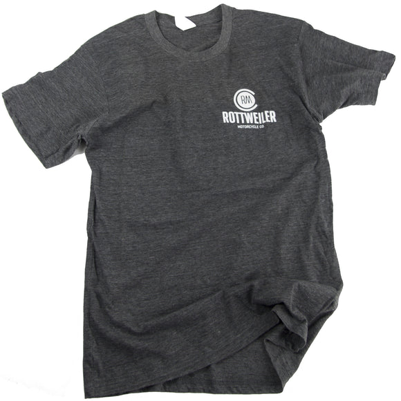 Rottweiler Logo Tee - Charcoal Heather Grey