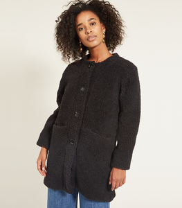 Black Shearling Carly Jacket