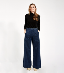 Dark Indigo Long Sabrina Pants