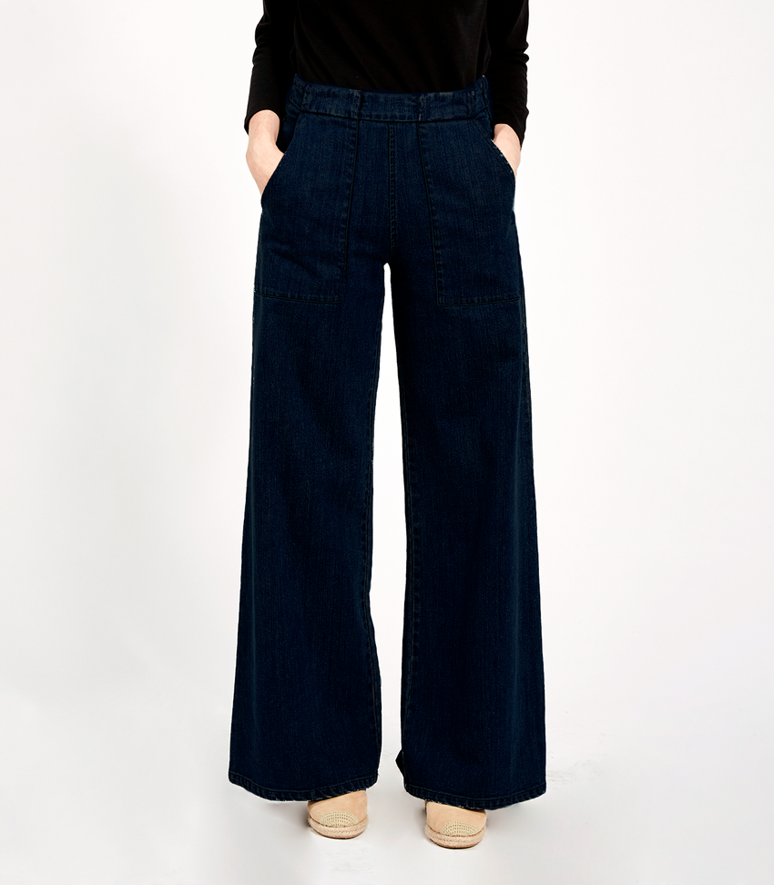 Extra Dark Indigo Long Sabrina Pants