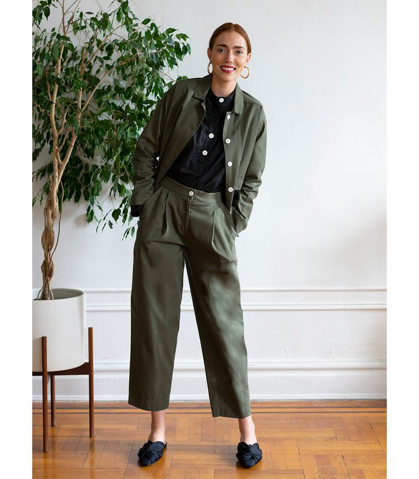 Green Margo Pants