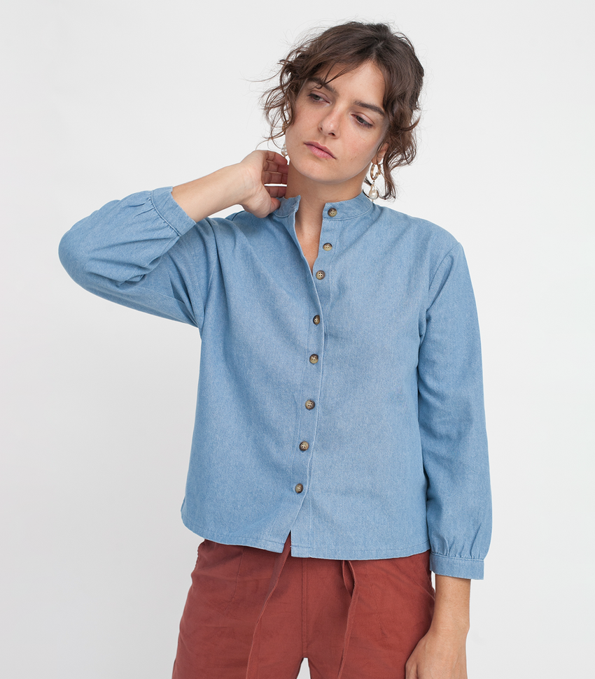Indigo Max Button Up
