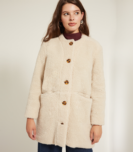 Ivory Shearling Carly Jacket