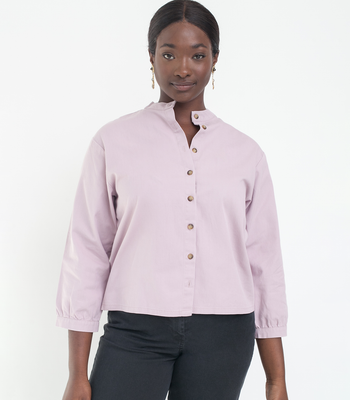 Lilac Max Button Up