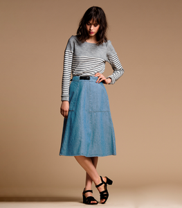Light Indigo Carrie Skirt