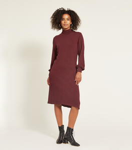 Maroon Lea Dress