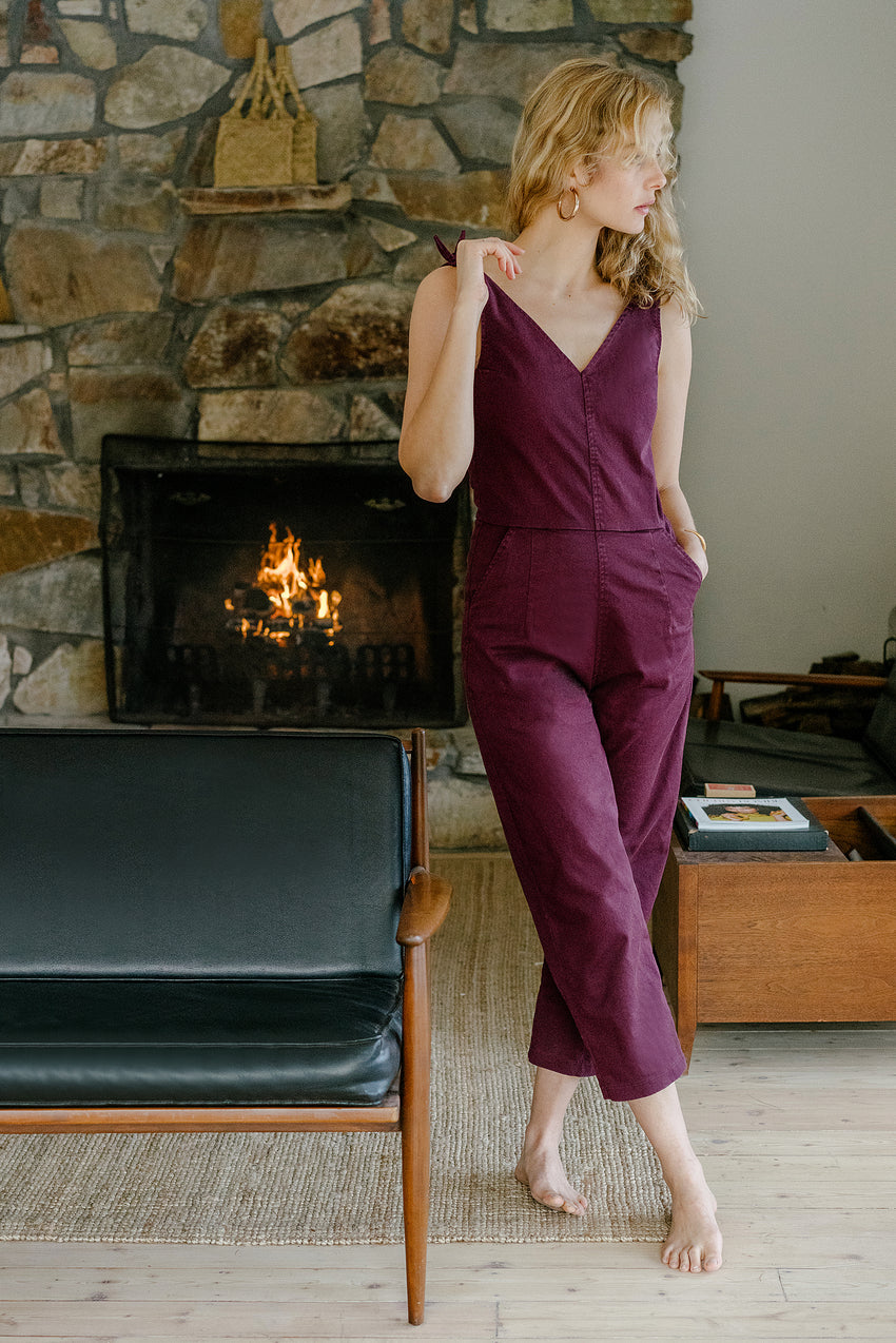 Maroon Slate Coveralls