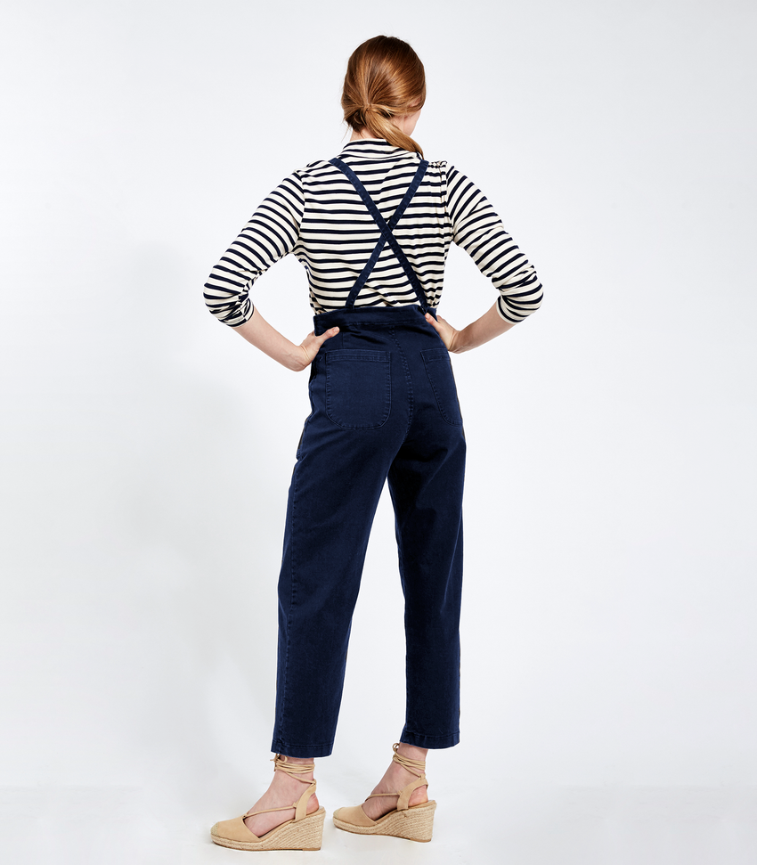 Navy Knot Overalls