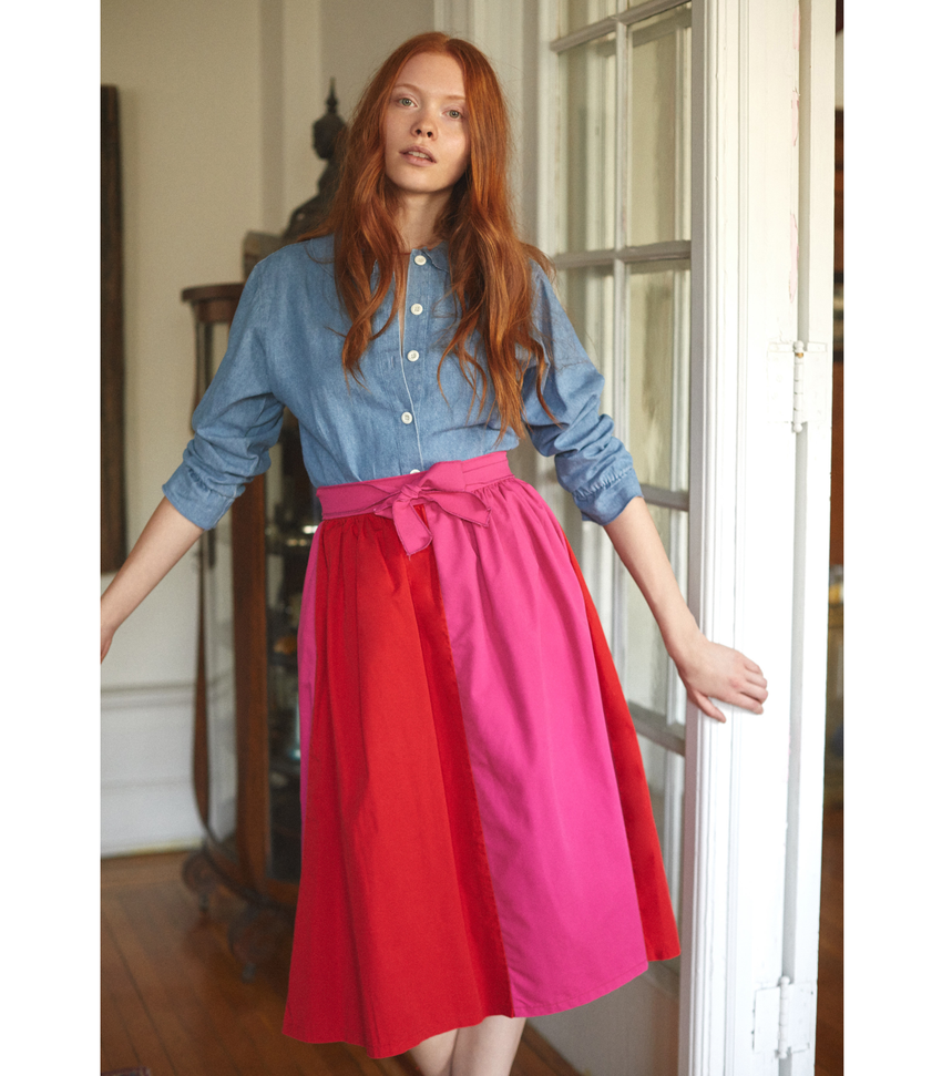 Pink & Red Nora Skirt