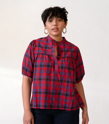 Plaid Grace Top
