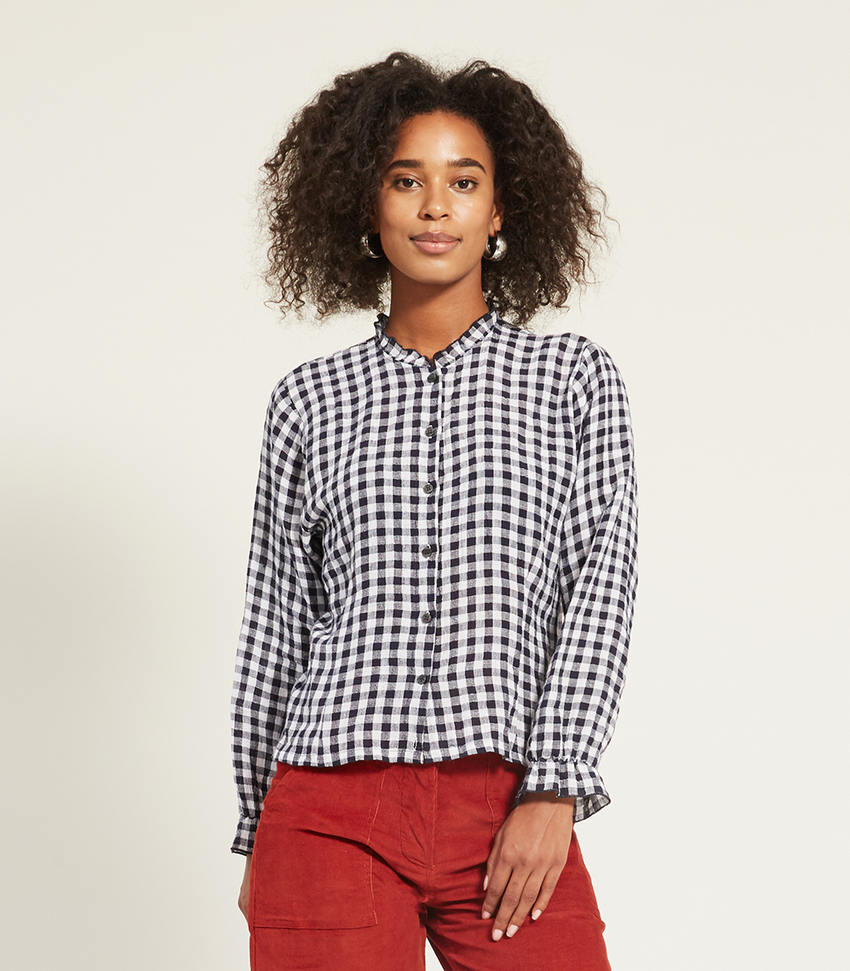 Plaid Liz Blouse