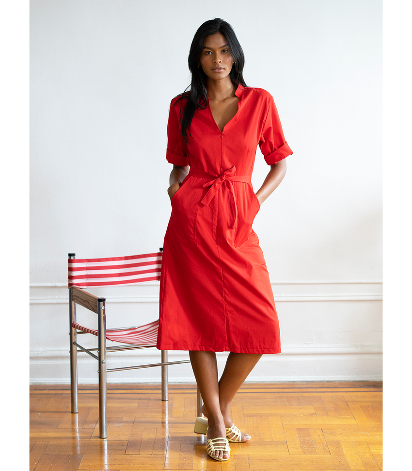Red Alma Dress