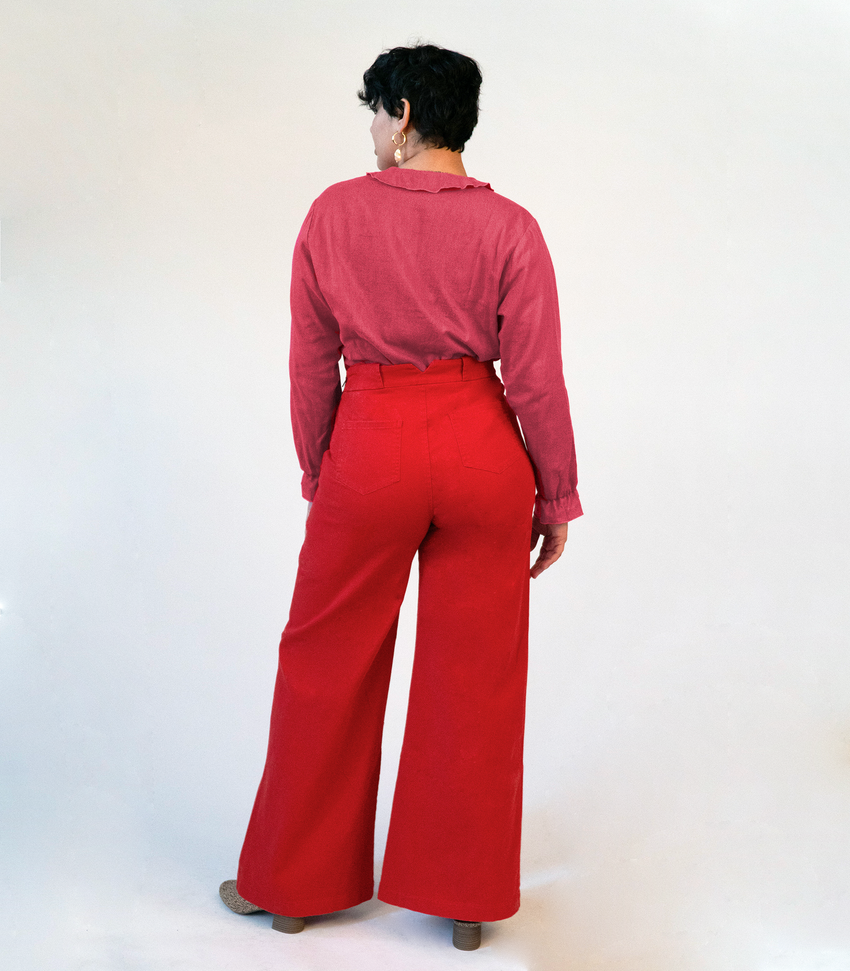 Red Long Sabrina Pants