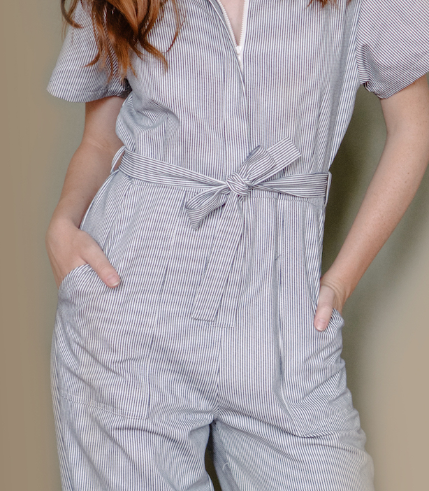Striped Patty Worksuit