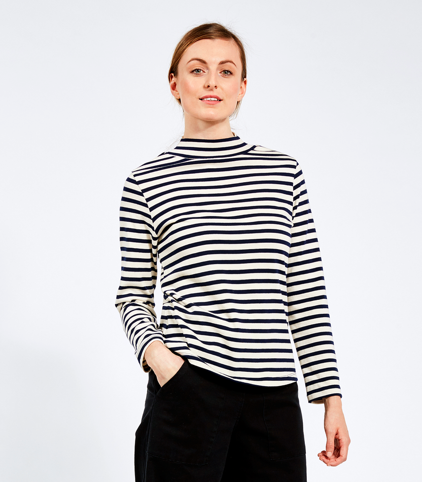 Striped Franc Top
