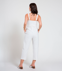 White Abby Jumpsuit