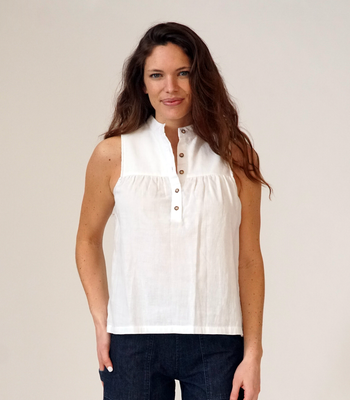 White Carolyn Top