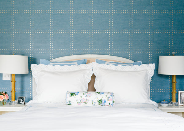 Blue Swiss Dot Duvet