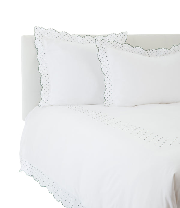 Hunter Green Swiss Dot Duvet