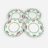 Floral Melamine Plates, Set of 4