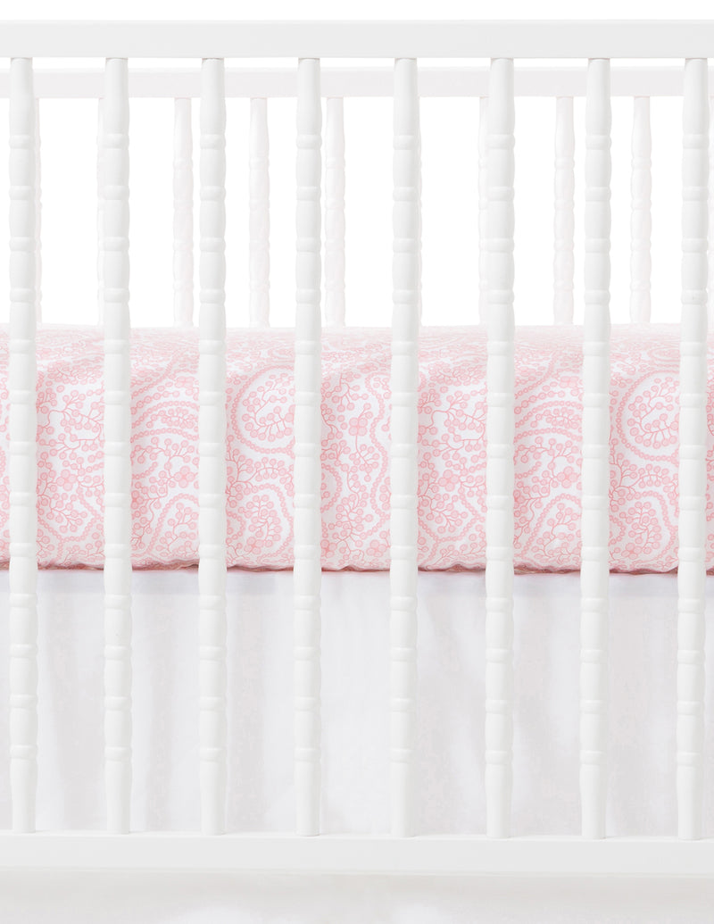 Shelby Pink Crib Sheet, Pink