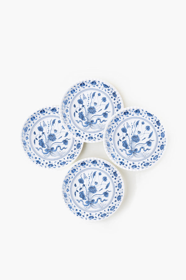 Botanical Melamine Plates, Set of 4