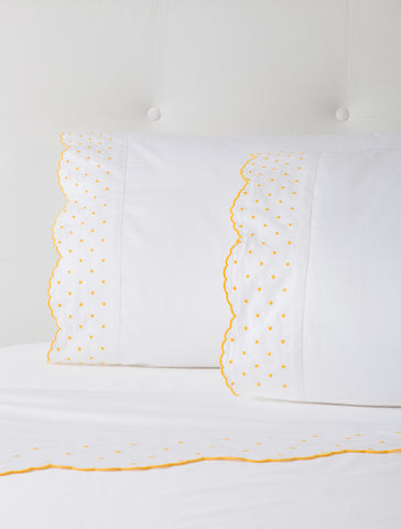 Marigold Embroidered Sheets