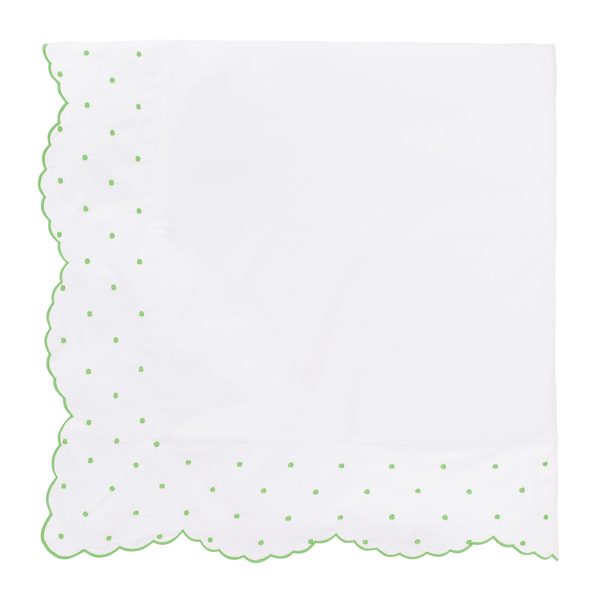 Cabbage Green Swiss Dot Duvet