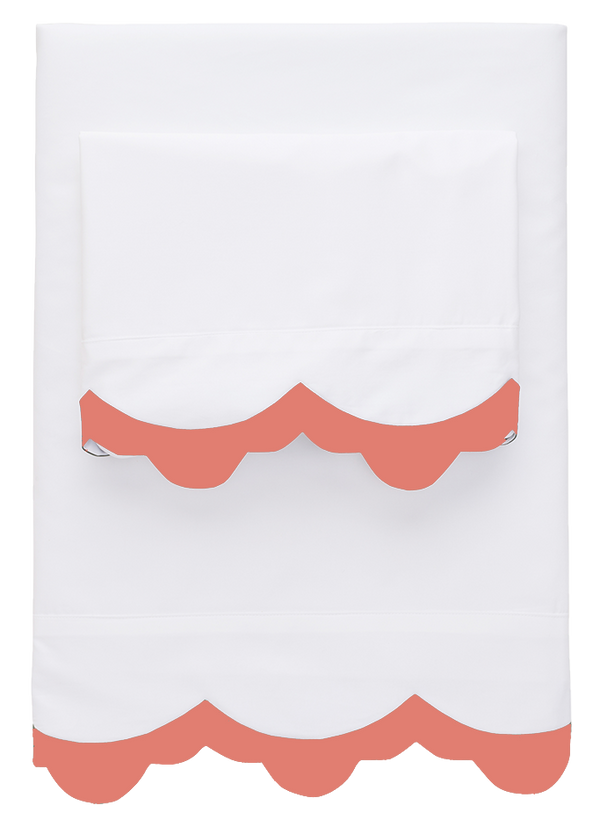 Coral Pointy Scallop Sheets