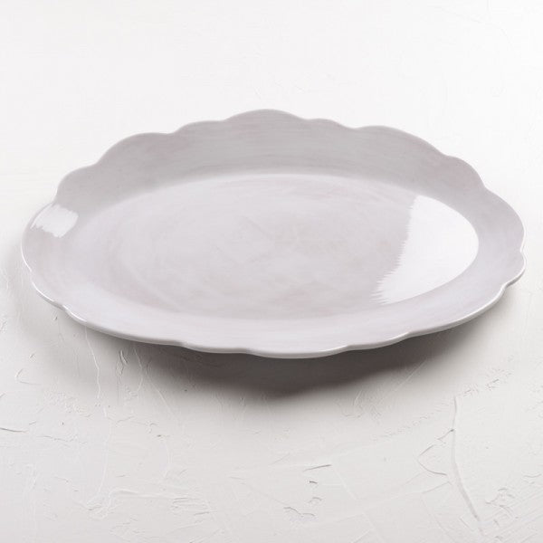 Scalloped White Melamine Dinnerware