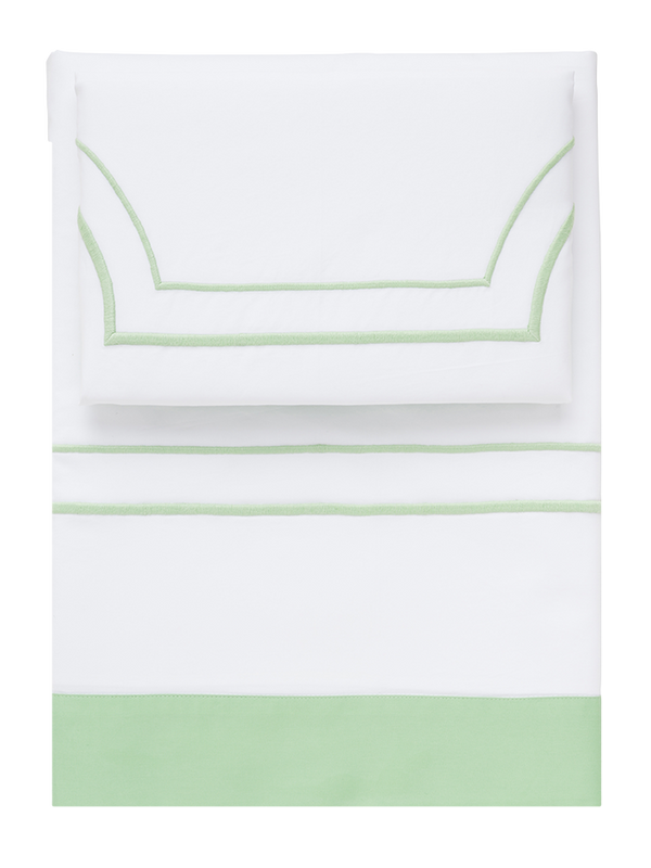 Green Block Border Sheets