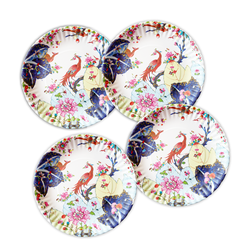 Tobacco Leaf Melamine Plates, Set of 4