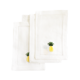 Pineapple Cocktail Napkins, set of 4