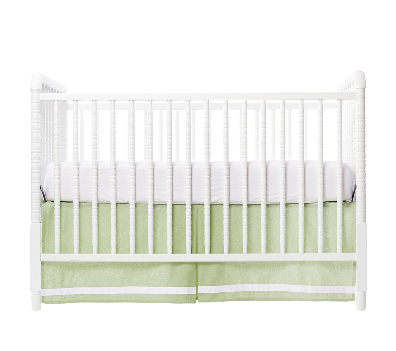 Thyme Border Crib Skirt