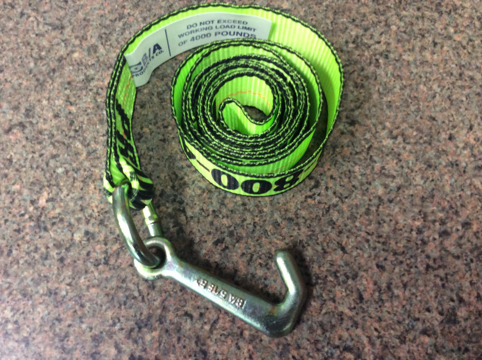 GPI38-5J  -  8ft Hi Viz Green Mini J Strap