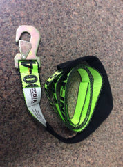 GPI38-3D  -  8ft Hi Viz Green Snap Hook Strap w/ Sleeve