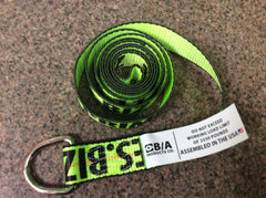 GPI38-1-12  -  10ft Hi Viz Green D Ring Strap