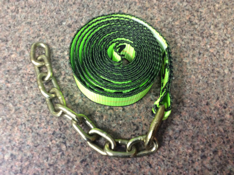 GPI38-200C-L  -  14ft Hi Viz Green Chain Strap