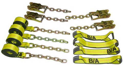 38-200C  -  Rollback Chain Ends Tie-Down Kit w/ 14ft Straps