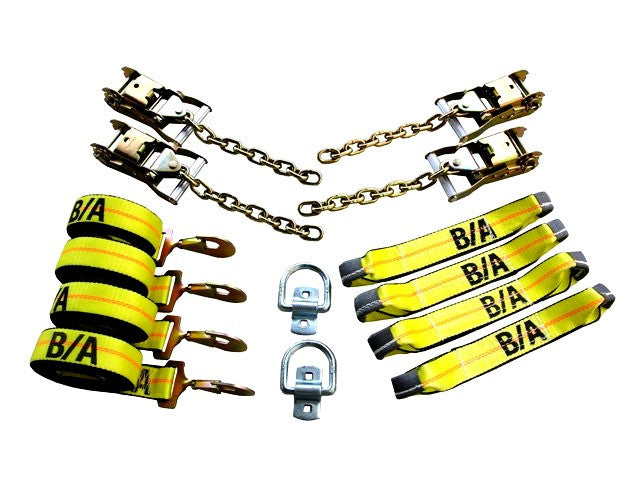 38-200D  -  Rollback Snap Hook & Chain Tie-Down Kit w/ 14ft Straps