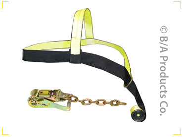 38-B19   -   Tie Down Basket Strap w/ D Ring & Sleeve (Basket Only)