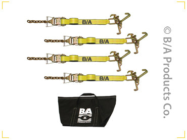 38-KIT100   -   4 Cluster Strap w/ Chain & Ratchet Tie Down Kit