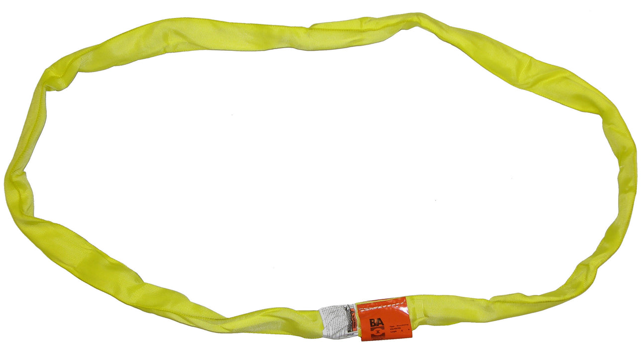 38-RSY-4  -  4ft Yellow Round Sling 8400 Lbs