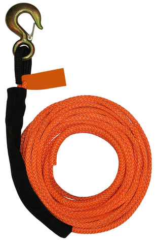 "4-R38100  -  3/8"" 100ft Synthetic Rope Winch Line"