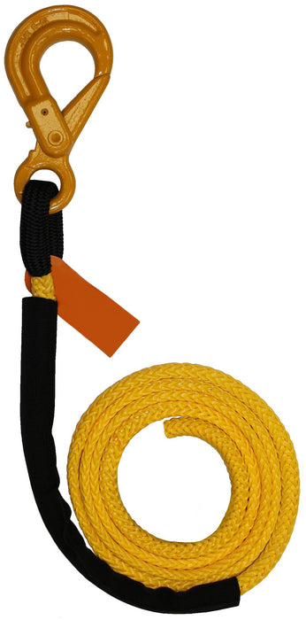 "4-R71675L  -  7/16"" 75ft Synthetic Winch Rope Line w/ Self Locking Hook"