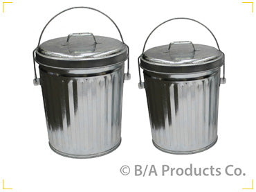 44-D1086   -   In The Ditch 4 Gallon Galvanized Trash Can