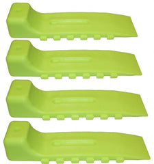 48-WSN  -  Wreckmaster Interlocking Tire Skates ( Neon Green Set of 4 )