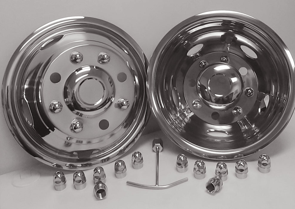 "50198-170G - 17"" x 6.5"" Over-the-Lug Simulator Set for GM/Chevy C/K3500 - 8 Lugs, 5 Hand Holes"