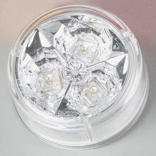 "63004  -  2"" Amber/Clear 3 LED Light"