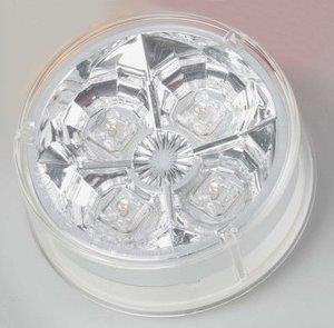 "63008  -  2 1/2"" Amber/Clear 4 LED Light"